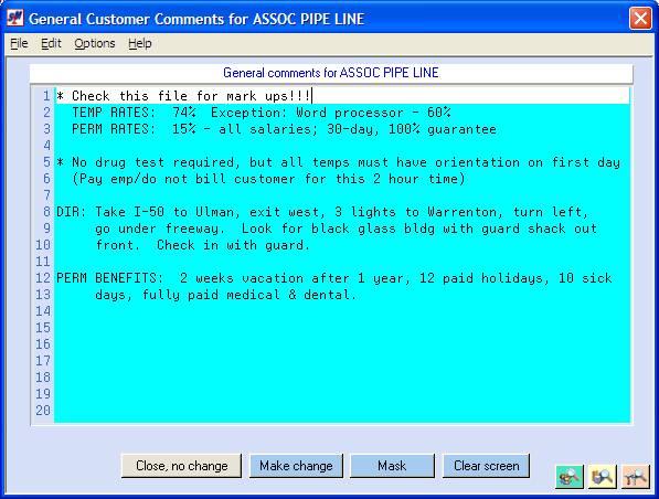 Skilmatch Customer Prospect File